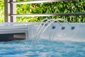 Water Purification flowing properly in the hot tub